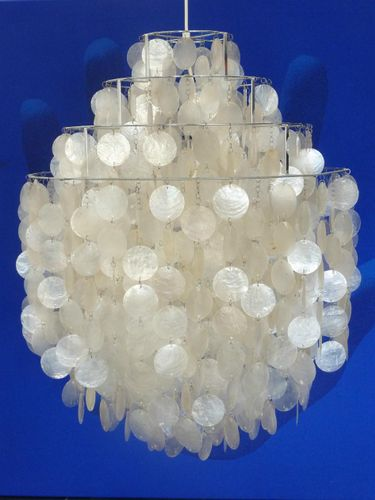 Vintage Fun 0 DM Mother Of Pearl Chandelier By Verner Panton For Lüber For  Sale At Pamono