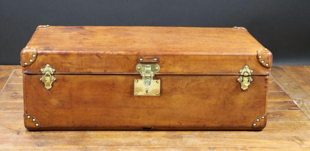 berseekoffer aus naturleder 1930er bei pamono kaufen. Black Bedroom Furniture Sets. Home Design Ideas