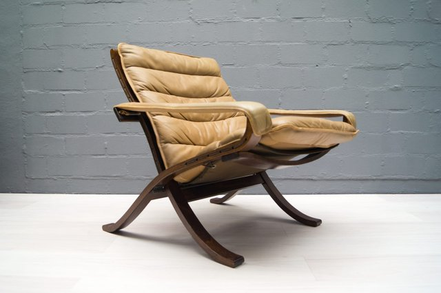 Leather folding chair by ingmar relling for westnofa for Chaise norvegienne