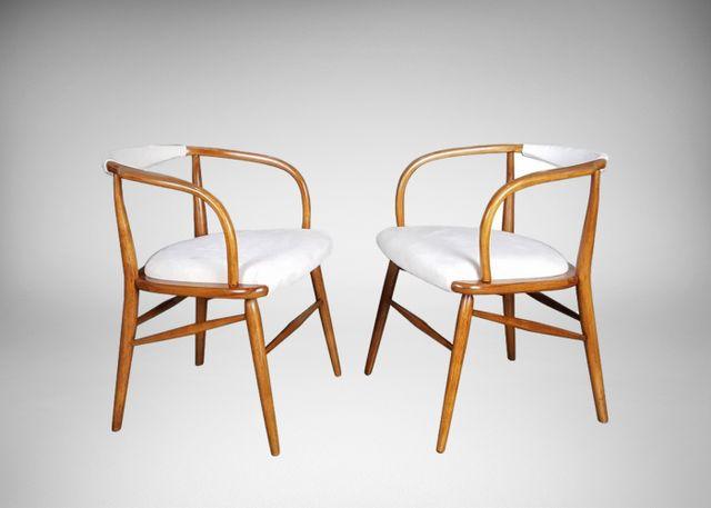 d nische moderne vintage skulpturale armlehnst hle 2er. Black Bedroom Furniture Sets. Home Design Ideas