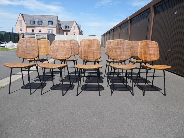 Mid Century Rattan Chair By Dirk Van Sliedregt For Rohé Noordwolde, 1950s  For Sale At Pamono