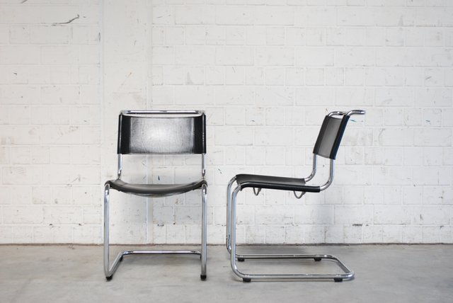 Superior Vintage S33 Chairs By Mart Stam For Thonet, Set Of 2 For Sale At Pamono