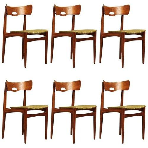 d nische vintage teak st hle von bramin 1960er 6er set. Black Bedroom Furniture Sets. Home Design Ideas