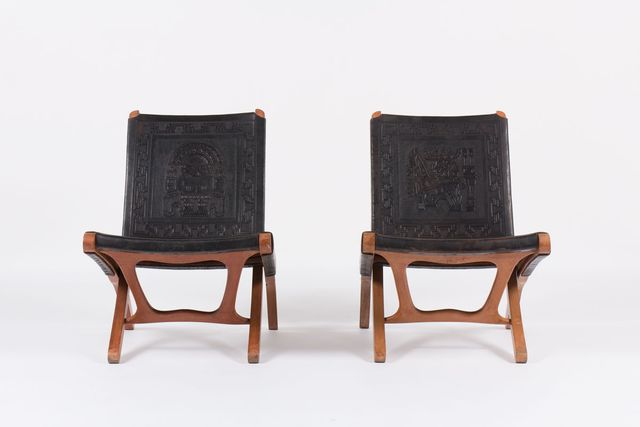 Lounge Chairs By Angel I Pazmino For Muebles De Estilo
