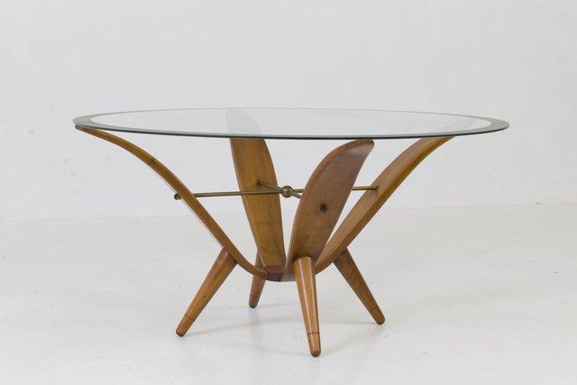 italian mid-century modern coffee table, 1950s for sale at pamono