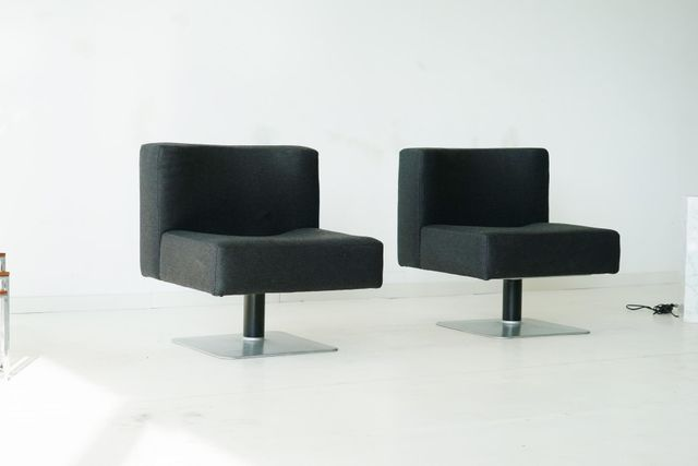 system 350 polsterst hle von herbert hirche f r mauserwerke 1970er 2er set bei pamono kaufen. Black Bedroom Furniture Sets. Home Design Ideas