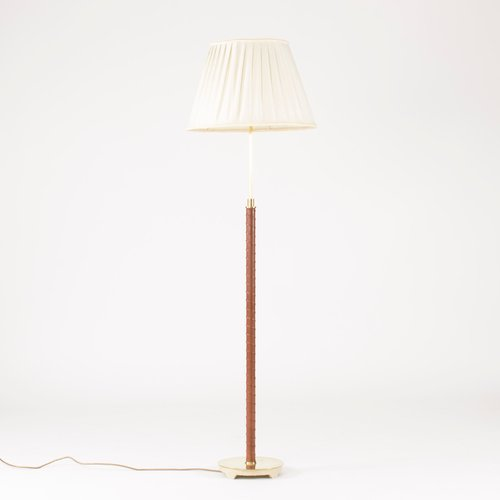 Mid century brass and leather floor lamp from nordiska kompaniet for mid century brass and leather floor lamp from nordiska kompaniet for sale at pamono aloadofball Image collections