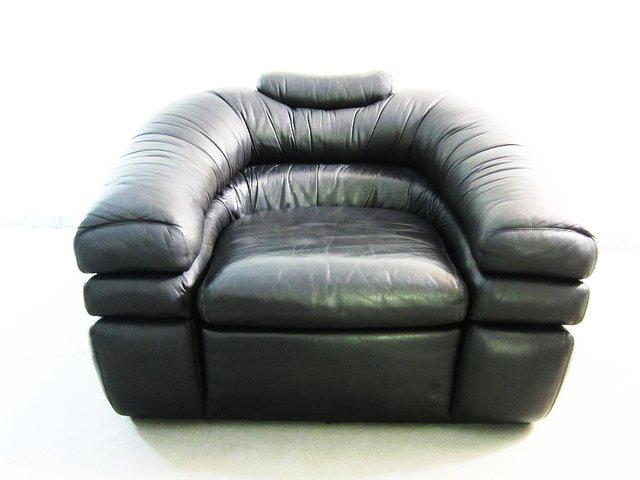 Vintage Leather Armchair By De Pas, Du0027Urbino, Lomazzi For Zanotta For Sale  At Pamono