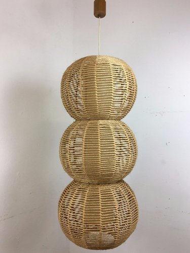 Large wicker moon ball lamp 1960s for sale at pamono for Large wicker moon chair