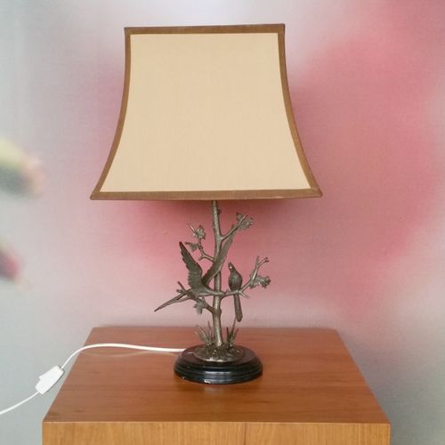 Mid-Century Silver Plated Table Lamp by S. Agudo for sale at Pamono