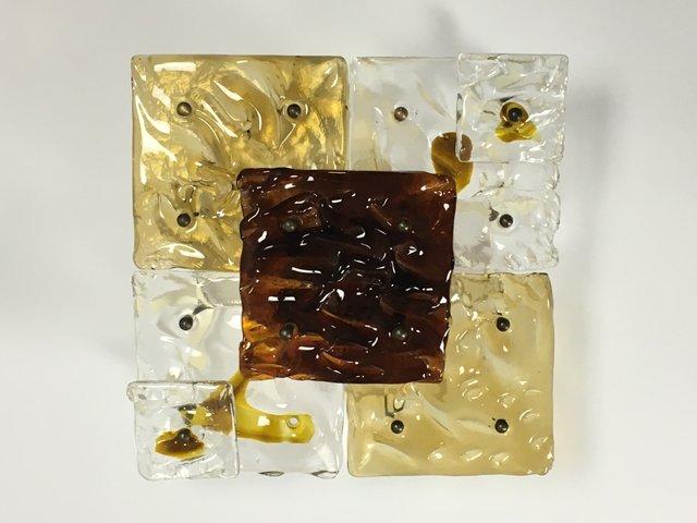 italienische murano glas wandleuchte in patchwork optik von venini 1960er bei pamono kaufen. Black Bedroom Furniture Sets. Home Design Ideas