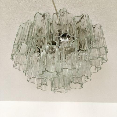 dreistufige murano glas deckenlampe von venini 1960er bei pamono kaufen. Black Bedroom Furniture Sets. Home Design Ideas