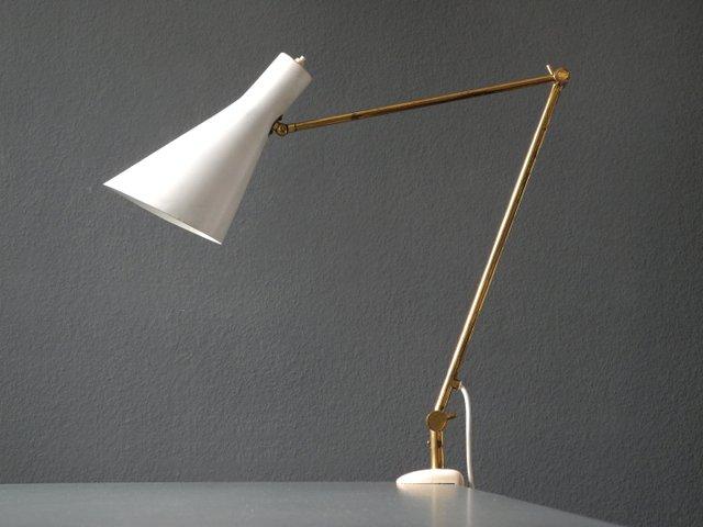 italienische mid century modern klemmplampe aus messing mit konischer leuchte bei pamono kaufen. Black Bedroom Furniture Sets. Home Design Ideas