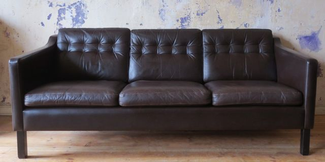 d nisches modernes vintage ledersofa bei pamono kaufen. Black Bedroom Furniture Sets. Home Design Ideas