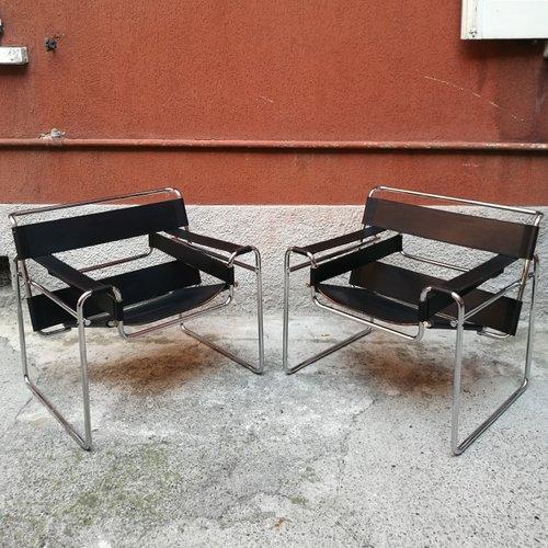 wassily b3 sessel von marcel breuer f r knoll 1927 2er set bei pamono kaufen. Black Bedroom Furniture Sets. Home Design Ideas