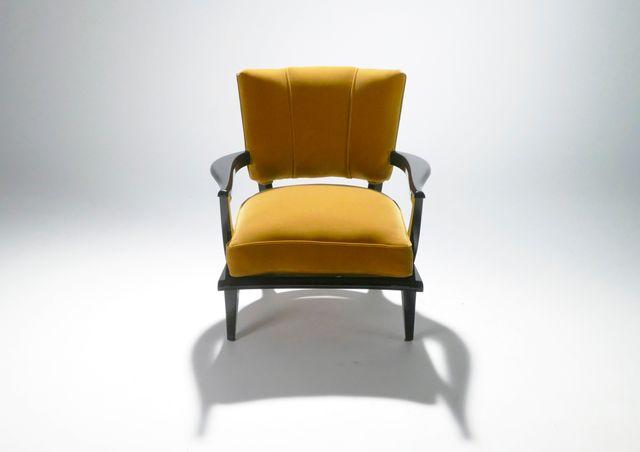 armchairs by etienne henri martin for steiner 1950s set. Black Bedroom Furniture Sets. Home Design Ideas