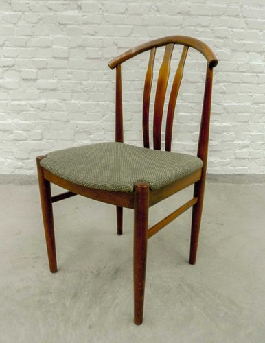 Swedish Oak And Olive Green Dining Chairs, 1960s, Set Of 4 For Sale At  Pamono