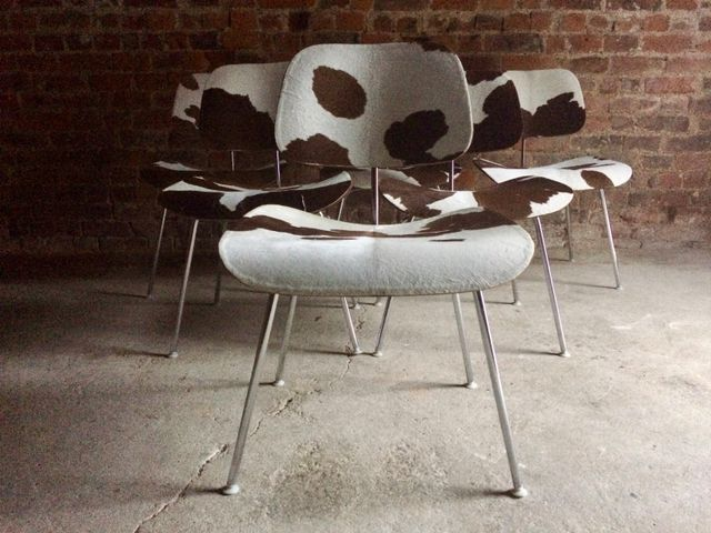 DCM Calf Skin Chairs by Charles Ray Eames for Herman Miller 1960s