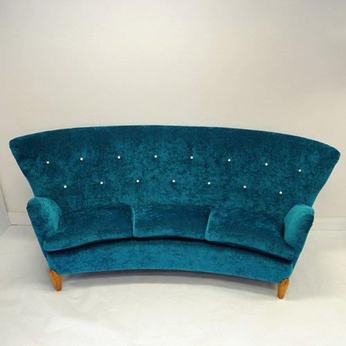 schwedisches mid century gr nes sofa von rolf rastad adolf relling bei pamono kaufen. Black Bedroom Furniture Sets. Home Design Ideas