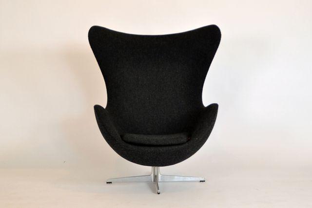 egg chair von arne jacobsen f r fritz hansen 1950er bei pamono kaufen. Black Bedroom Furniture Sets. Home Design Ideas
