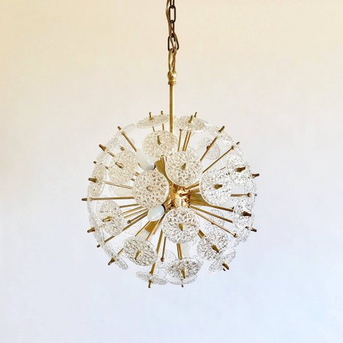 Vintage sputnik chandelier from val saint lambert for sale at pamono mozeypictures Gallery