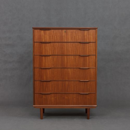 d nische vintage teak furnier kommode 1960er bei pamono kaufen. Black Bedroom Furniture Sets. Home Design Ideas