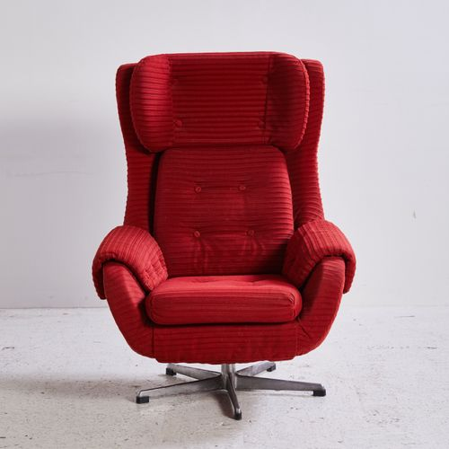 Vintage Red TV Armchair, 1970s For Sale At Pamono