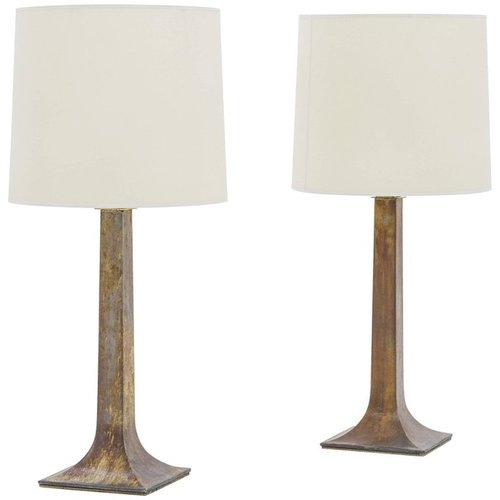 French bronze table lamps 1950s set of 2 for sale at pamono aloadofball Image collections