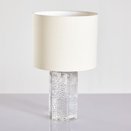 Glass Base Table Lamps Enchanting Vintage Glass Base Table Lamp 60s For Sale At Pamono