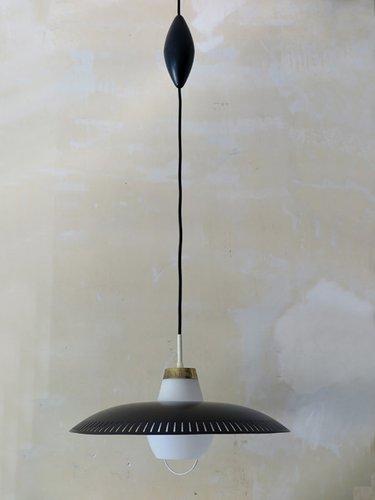 modernistische italienische schwarze pendelleuchte bei pamono kaufen. Black Bedroom Furniture Sets. Home Design Ideas