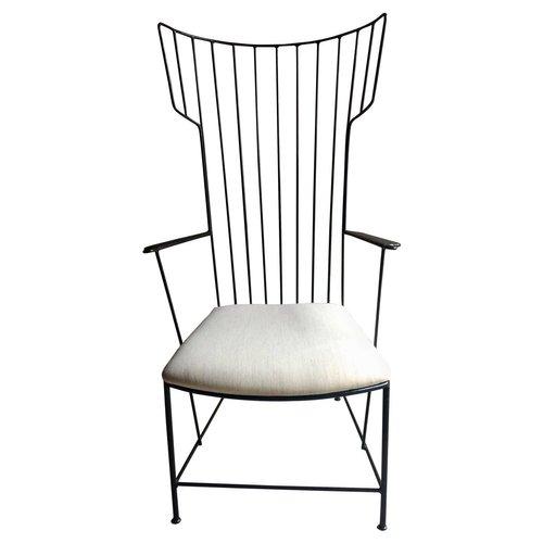 eiserner lyra armlehnstuhl von anna l lja praun thomas. Black Bedroom Furniture Sets. Home Design Ideas