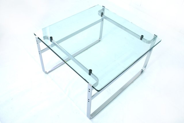 Model 700 Glass And Chrome Lounge Table By Preben