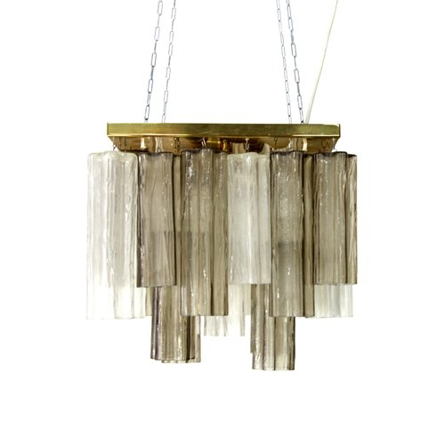 Glass Chandelier From J.T. Kalmar For Kalmar, Austria For