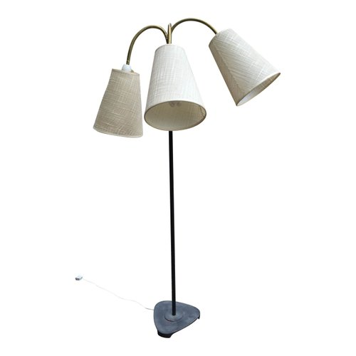 dreiarmige mid century stehlampe aus d nemark bei pamono kaufen. Black Bedroom Furniture Sets. Home Design Ideas