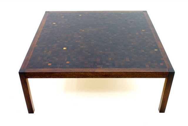 Wenge mosaic coffee table by dieter w ckerlin for for Table mosaic xl 6 chaises encastrables