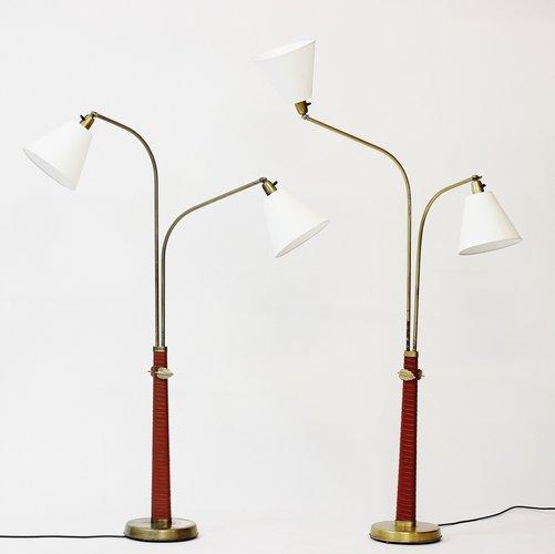 stehlampen von hans bergstr m f r atelj lyktan 1930er 2er set bei pamono kaufen. Black Bedroom Furniture Sets. Home Design Ideas