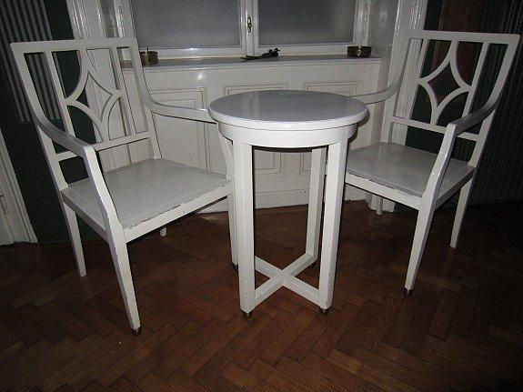 stuhl und beistelltisch set von josef hoffmann 1910 bei pamono kaufen. Black Bedroom Furniture Sets. Home Design Ideas