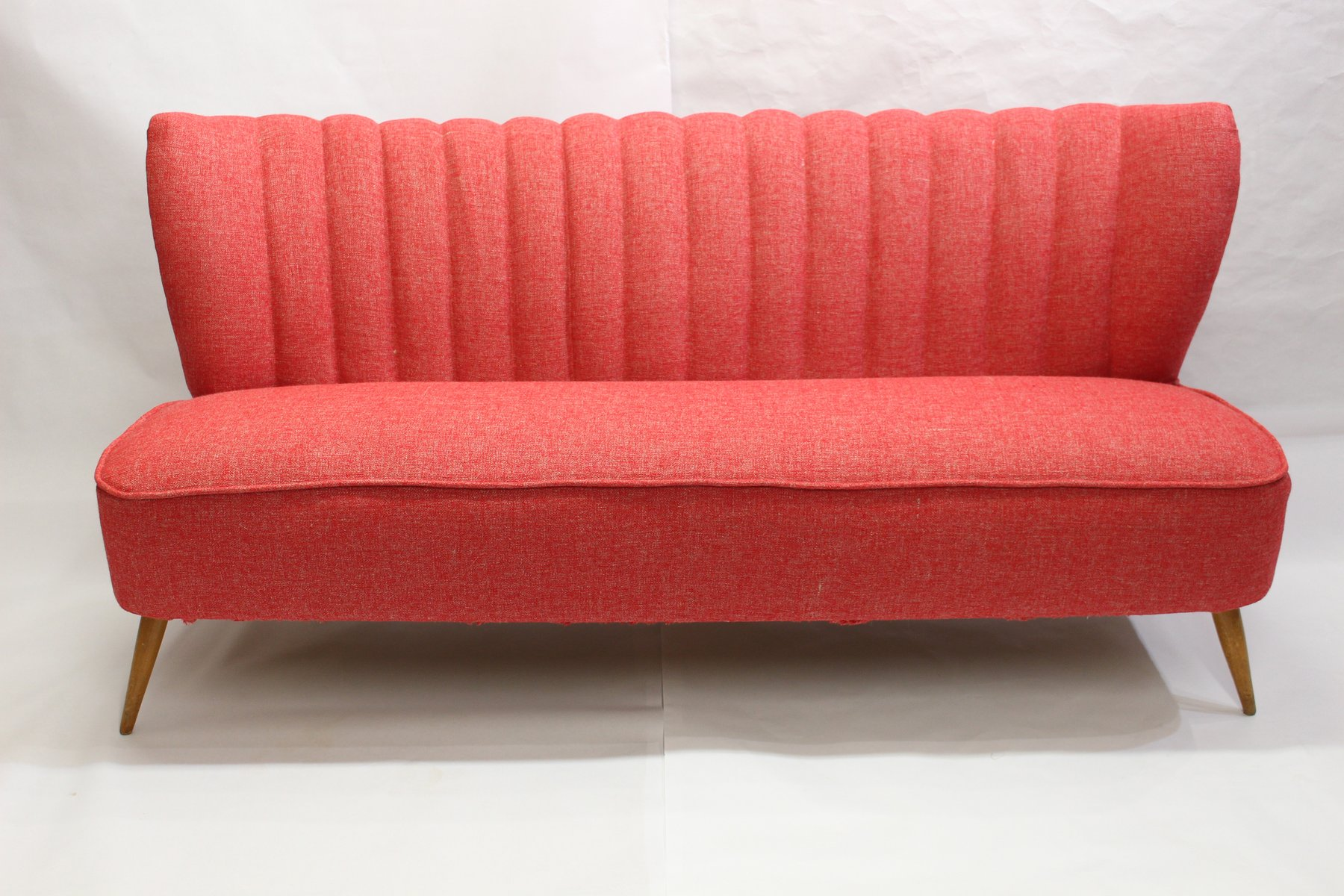 Vintage Red 3 Seater Sofa