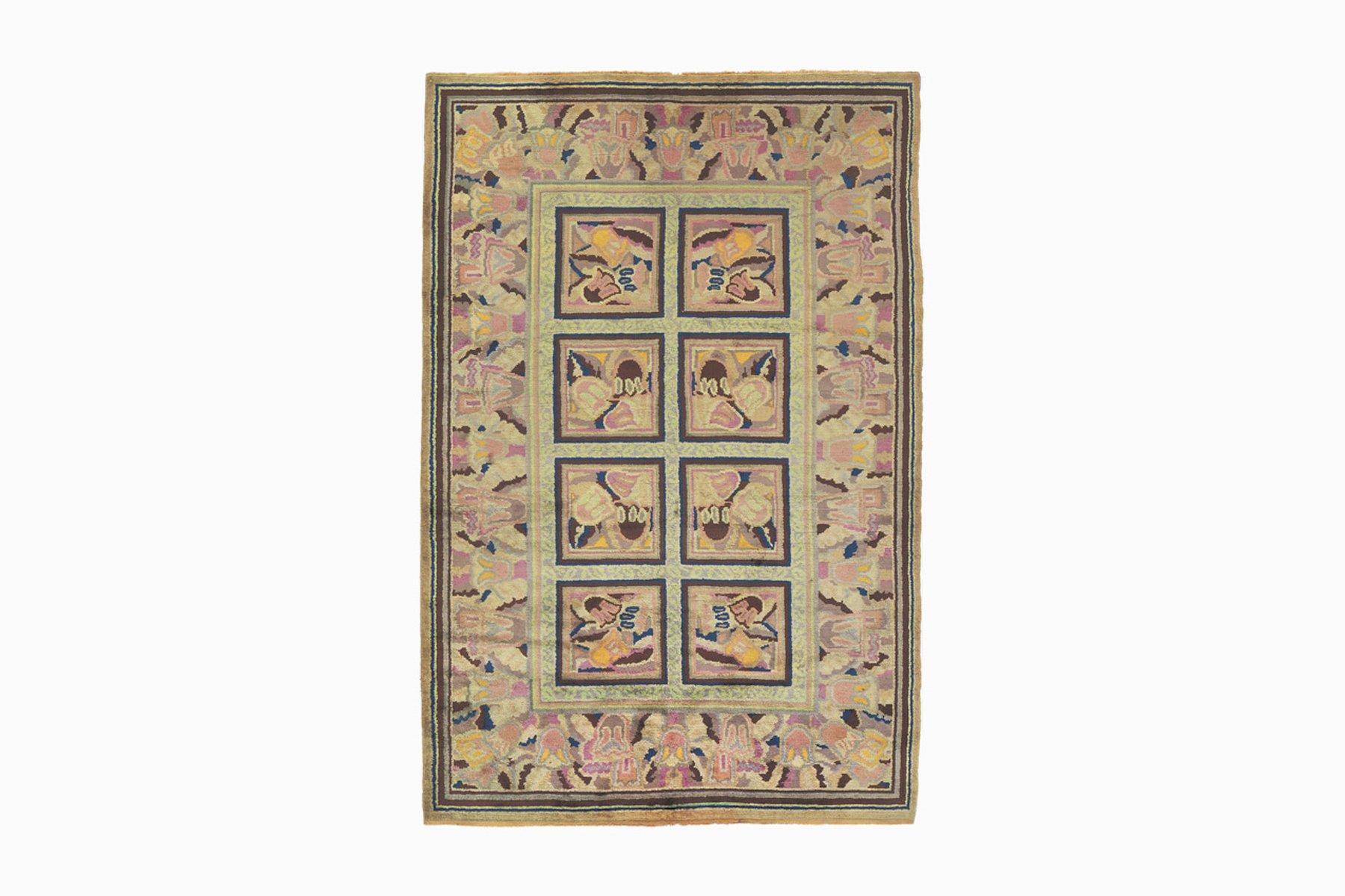 gebl mter art deco teppich bei pamono kaufen. Black Bedroom Furniture Sets. Home Design Ideas