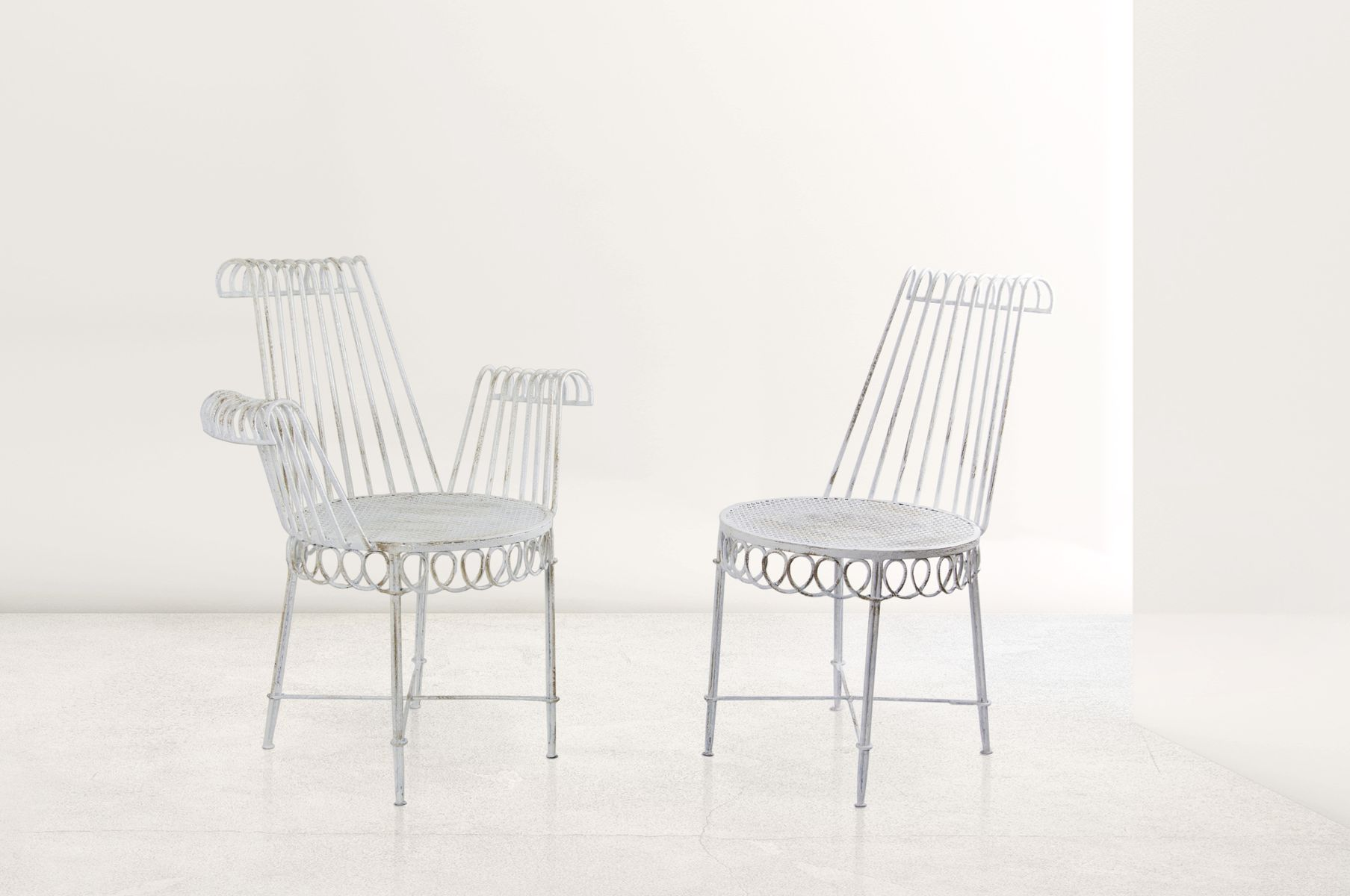 cap d 39 ail gartenst hle von mathieu mategot 1950er 4er set bei pamono kaufen. Black Bedroom Furniture Sets. Home Design Ideas