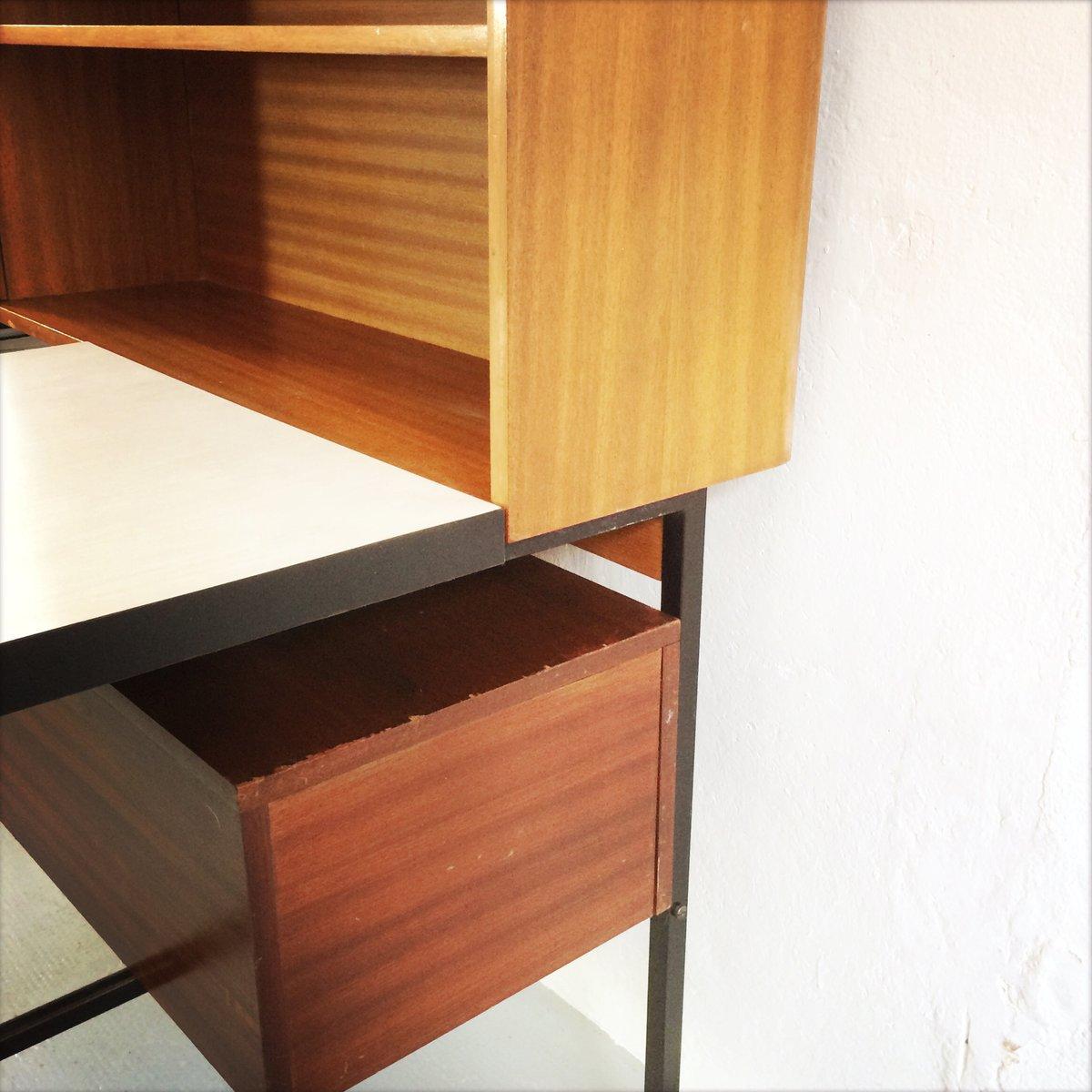 regal mit eingebautem schreibtisch bei pamono kaufen. Black Bedroom Furniture Sets. Home Design Ideas