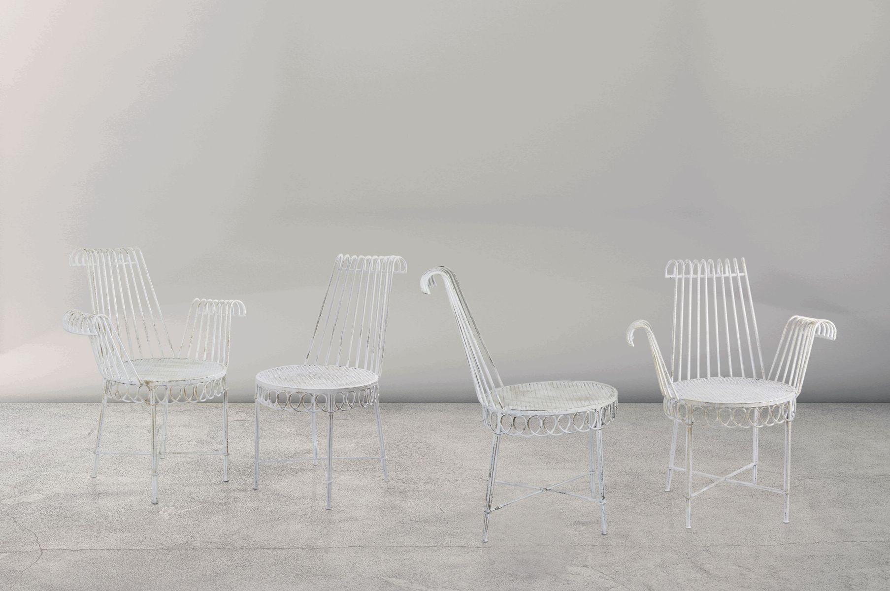cap d 39 ail gartenst hle von mathieu mategot 1950er 4er. Black Bedroom Furniture Sets. Home Design Ideas