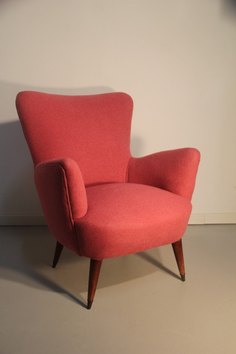 italienischer lila sessel 1950er bei pamono kaufen. Black Bedroom Furniture Sets. Home Design Ideas