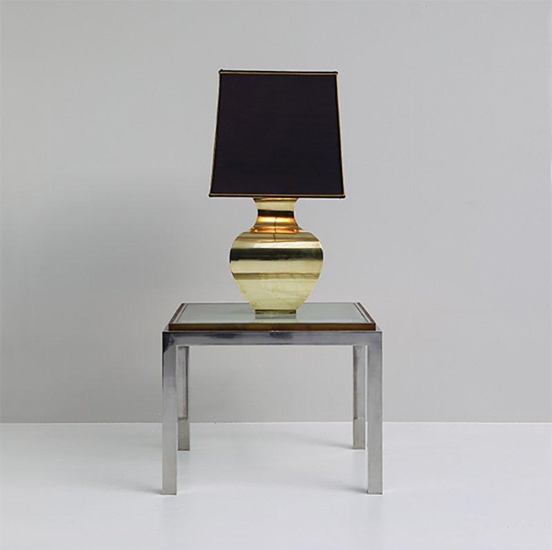 tischlampe aus messing 1970er bei pamono kaufen. Black Bedroom Furniture Sets. Home Design Ideas
