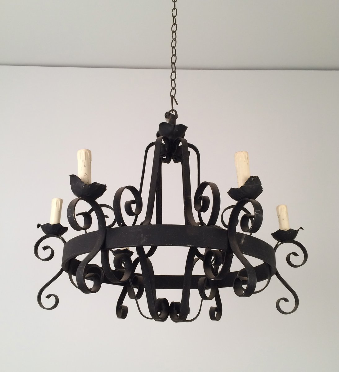 for chandelier photo black inspirations rod modern collection iron chandeliers best lighting wrought excellent of