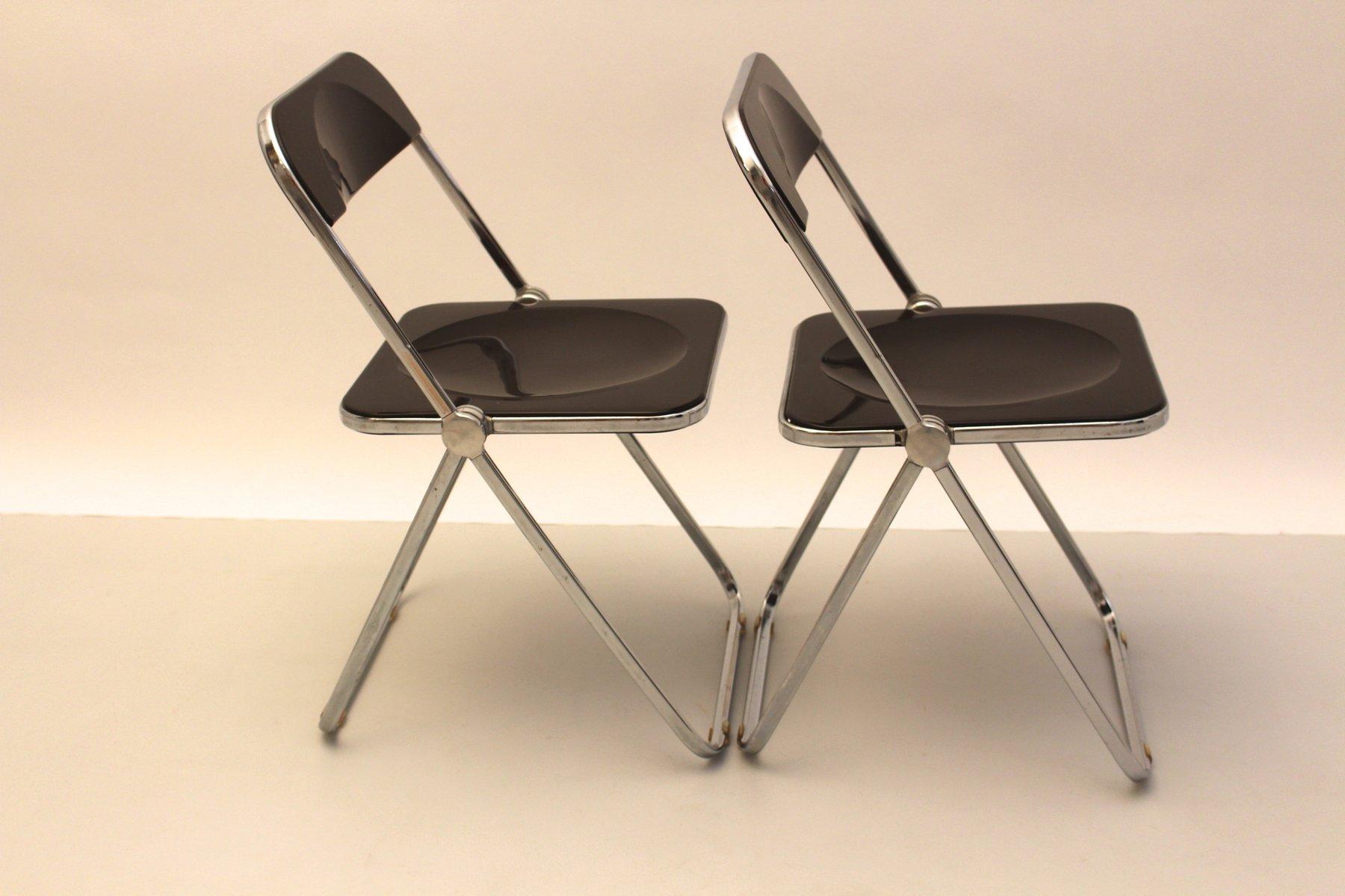 Italian Plia Folding Chairs by Gian Carlo Piretti for Anonima