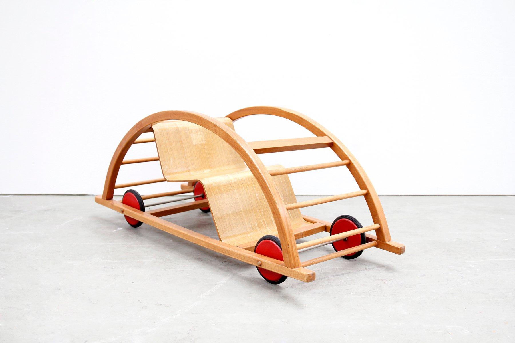 multifunktioneller kinder schaukelstuhl von brockhage andrea stam f r siegfried lenz 1950er. Black Bedroom Furniture Sets. Home Design Ideas