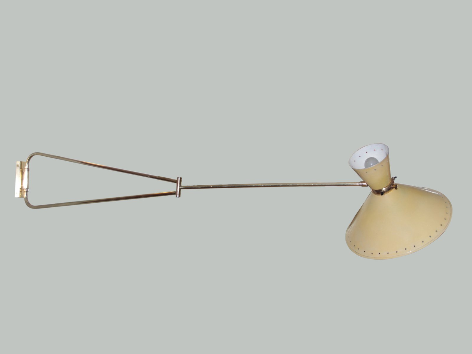 Diabolo swing arm wall light by rene mathieu for lunel 1950s for diabolo swing arm wall light by rene mathieu for lunel 1950s mozeypictures Choice Image