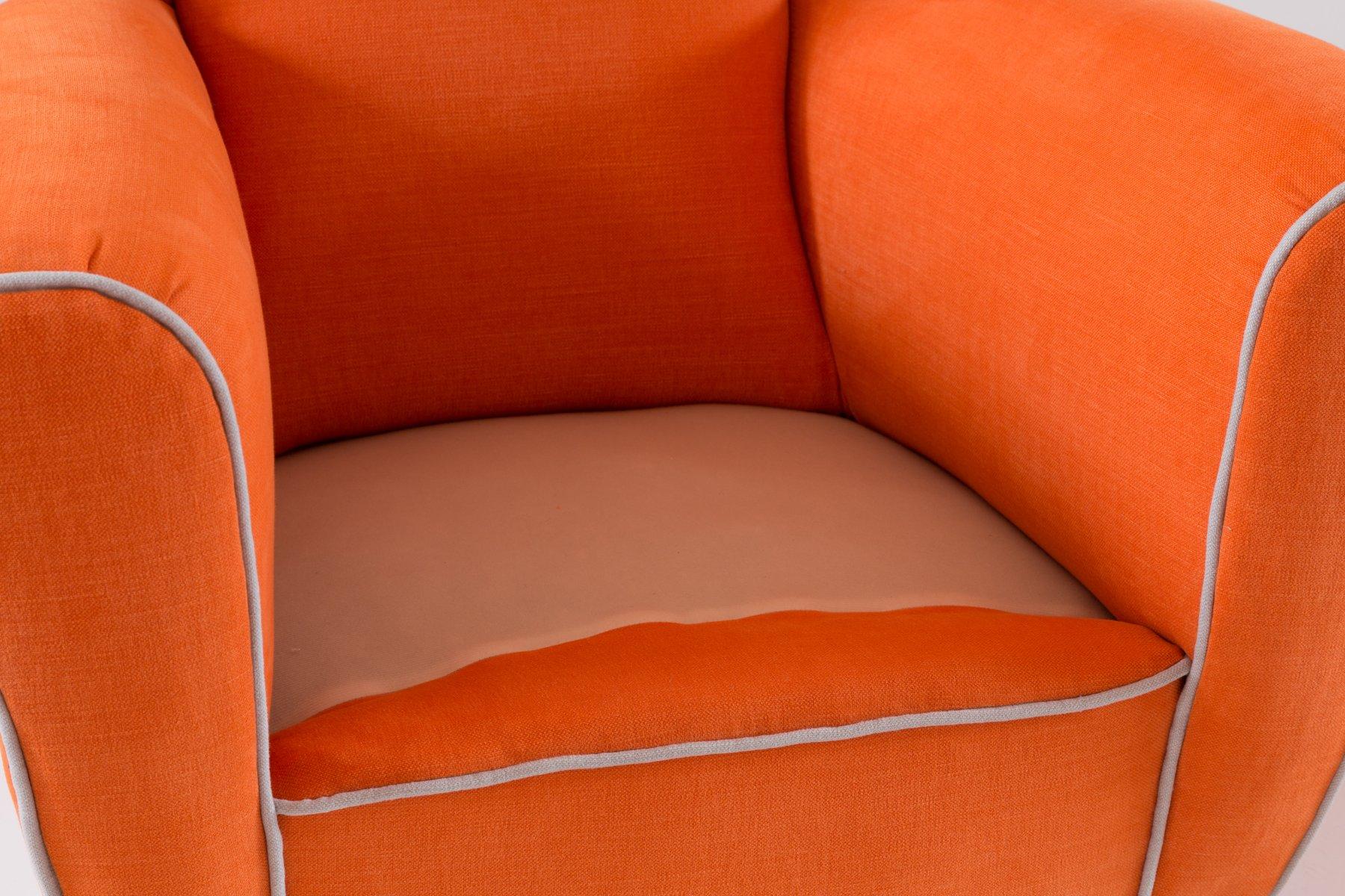 Orangefarbene ohrensessel von melchiorre bega 2er set bei for Ohrensessel 2er