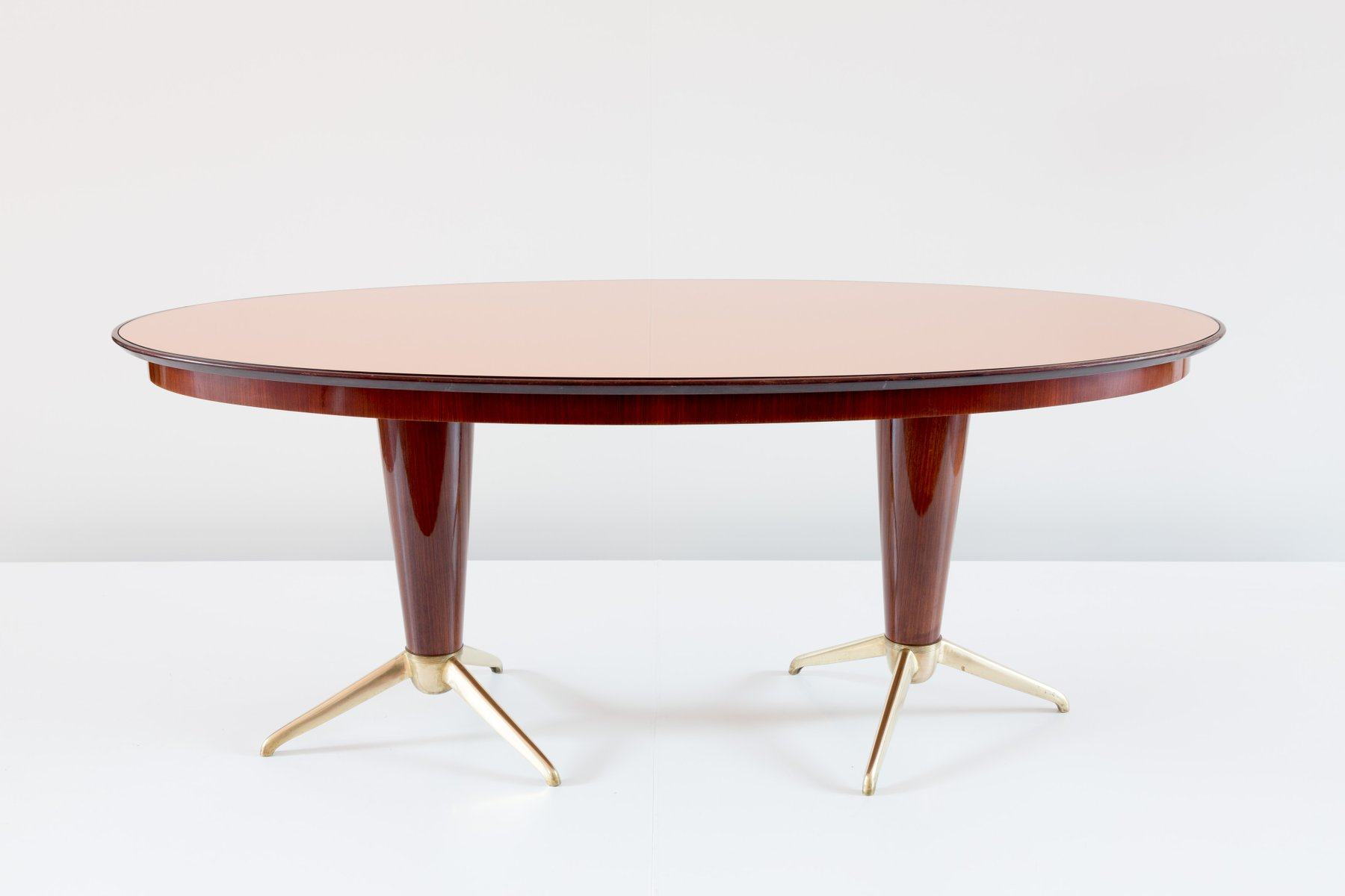 oval dining room. Italian Mahogany Oval Dining Table, 1952 Room M